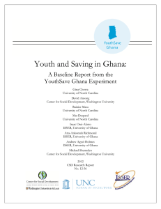 Youth and Saving in Ghana: A Baseline Report from the