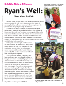Ryan's Well: Clean Water for Kids Kids Who Make a Difference