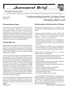Assessment Brief Public Schools of North Carolina