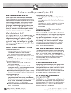 The Instructional Improvement System (IIS)