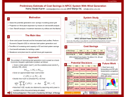Preliminary Estimate of Cost Savings in NPCC System With Wind... Noha Abdel-Karim and Marija Ilić, 4