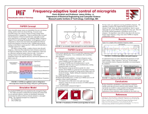 LEES Frequency-adaptive load control of microgrids FAPER Concept