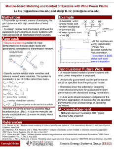 Motivation Example Module-based Modeling and Control of Systems with Wind Power Plants