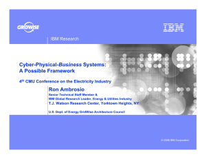 Business A Possible Framework Ron Ambrosio IBM Research