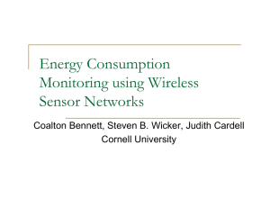 Energy Consumption Monitoring using Wireless Sensor Networks