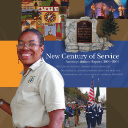 New Century of Service Accomplishment Report, 2000–2005  R