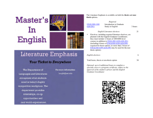 thesis  Introduction to Graduate Study in English