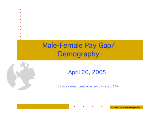 Male-Female Pay Gap/ Demography April 20, 2005