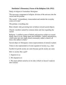 Elementary forms of religious life essay