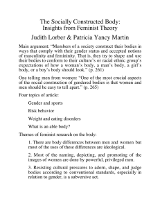The Socially Constructed Body: Insights from Feminist Theory