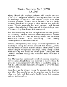 What is Marriage For? E.J. Graff