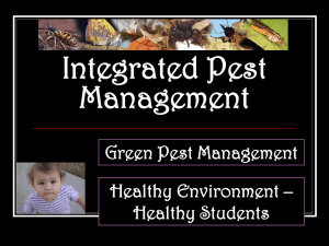 Integrated Pest Management Green Pest Management Healthy Environment –