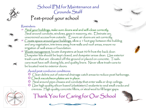 Pest-proof your school School IPM for Maintenance and Grounds Staff