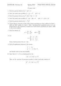 MATH 266 Section A1 Spring 2013 PRACTICE FINAL EXAM