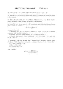 MATH 519 Homework Fall 2013