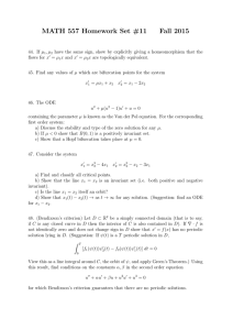 MATH 557 Homework Set #11 Fall 2015
