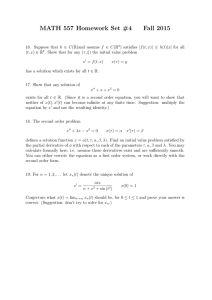 MATH 557 Homework Set #4 Fall 2015