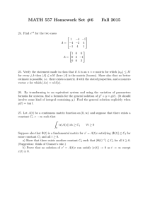 MATH 557 Homework Set #6 Fall 2015