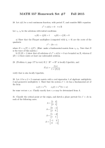 MATH 557 Homework Set #7 Fall 2015