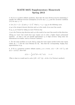 MATH 565X Supplementary Homework Spring 2013