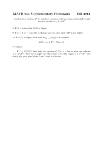 MATH 655 Supplementary Homework Fall 2012