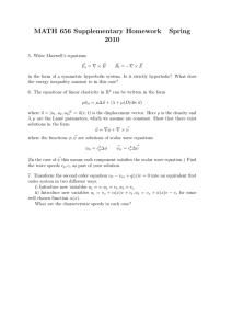 MATH 656 Supplementary Homework Spring 2010