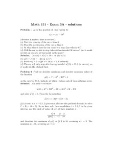 Math 151 - Exam 3A - solutions