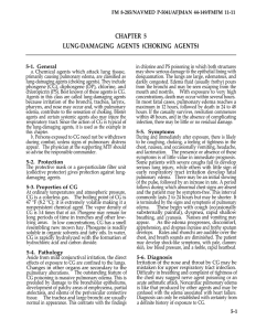 CHAPTER 5 LUNG-DAMAGING AGENTS (CHOKING AGENTS)