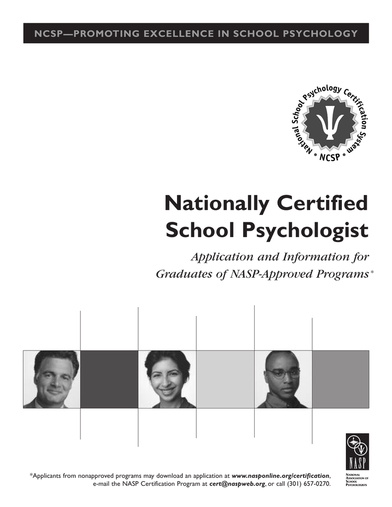 Nationally Certified School Psychologist Application And Information