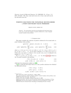 Electronic Journal of Differential Equations, Vol. 2009(2009), No. 110, pp.... ISSN: 1072-6691. URL:  or