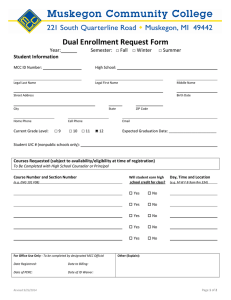 Dual Enrollment Request Form Year: □ Summer