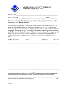 MUSKEGON COMMUNITY COLLEGE Student Liability Release Form