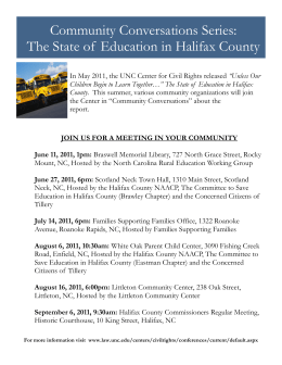 Community Conversations Series: The State of  Education in Halifax County