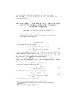 Electronic Journal of Differential Equations, Vol. 2011 (2011), No. 95,... ISSN: 1072-6691. URL:  or