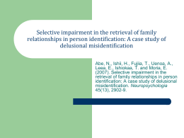Selective impairment in the retrieval of family