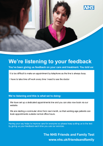We're listening to your feedback