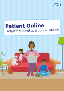 Patient Online Frequently asked questions – Patients