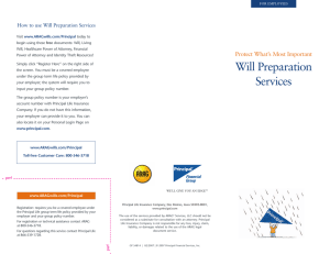Protect What's Most Important How to use Will Preparation Services