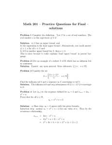 Math 201 – Practice Questions for Final – solutions