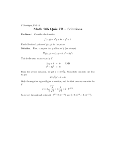 Math 265 Quiz 7B – Solutions
