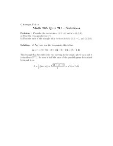 Math 265 Quiz 2C – Solutions