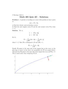Math 265 Quiz 4D – Solutions