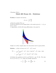 Math 265 Exam 2A - Solutions