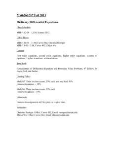 Math266/267 Fall 2013  Ordinary Differential Equations