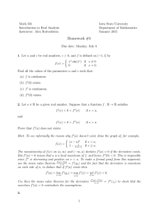 Math 501 Iowa State University Introduction to Real Analysis Department of Mathematics