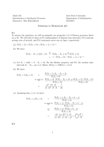 Math 554 Iowa State University Introduction to Stochastic Processes Department of Mathematics