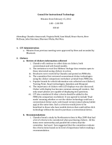 Council for Instructional Technology Minutes from February 15, 2012 HH 60