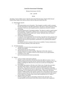 Council for Instructional Technology  Minutes from January 18, 2012