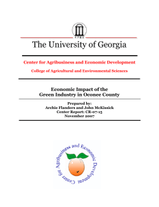 The University of Georgia  Economic Impact of the