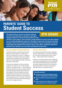 Student Success 8TH GRADE PARENTS' GUIDE TO